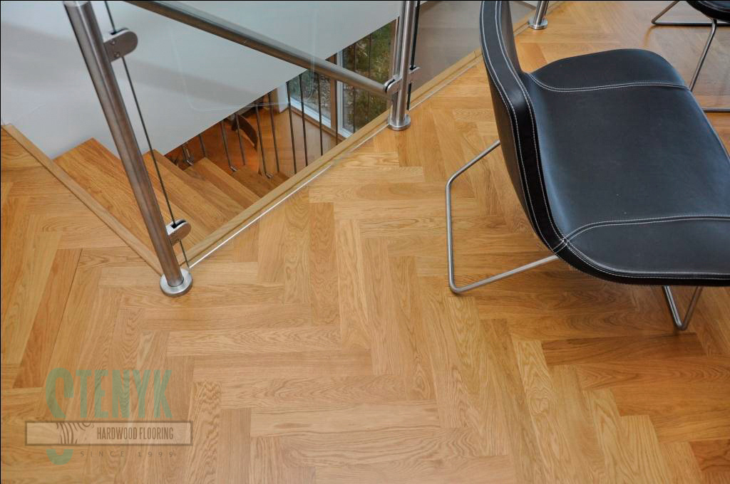 70mm Fishbone parquet, Select grade in the house by the sea