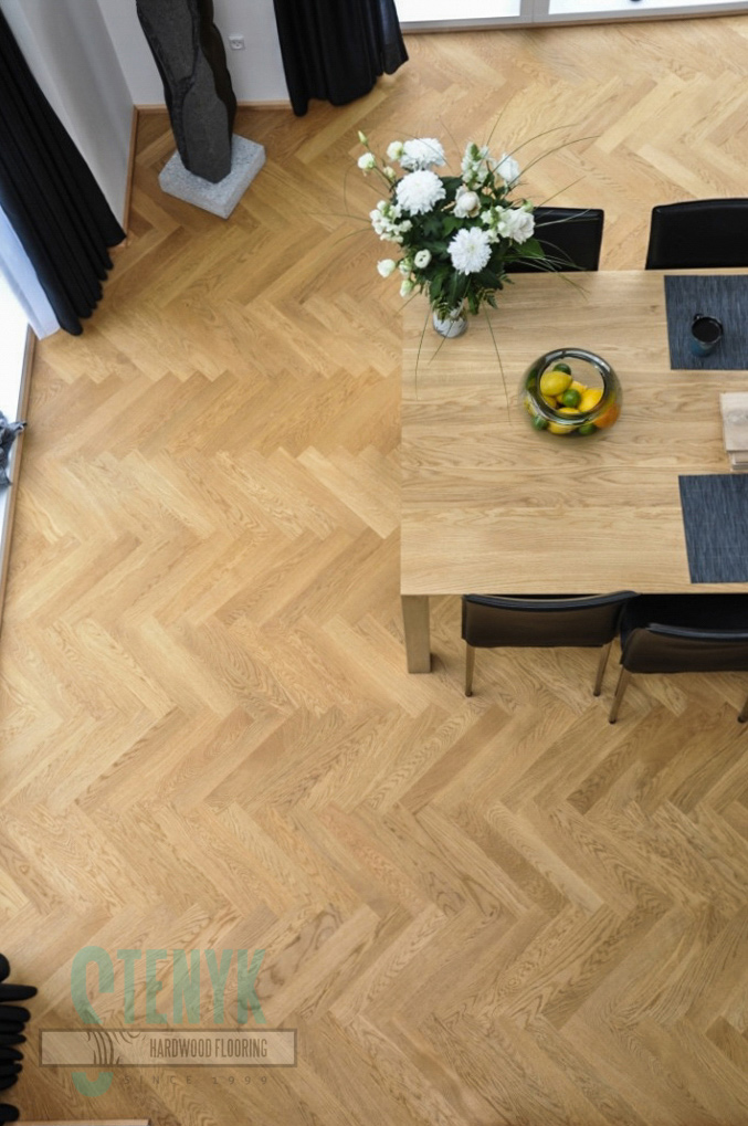70mm Fishbone parquet, Select grade in the 2-storey house